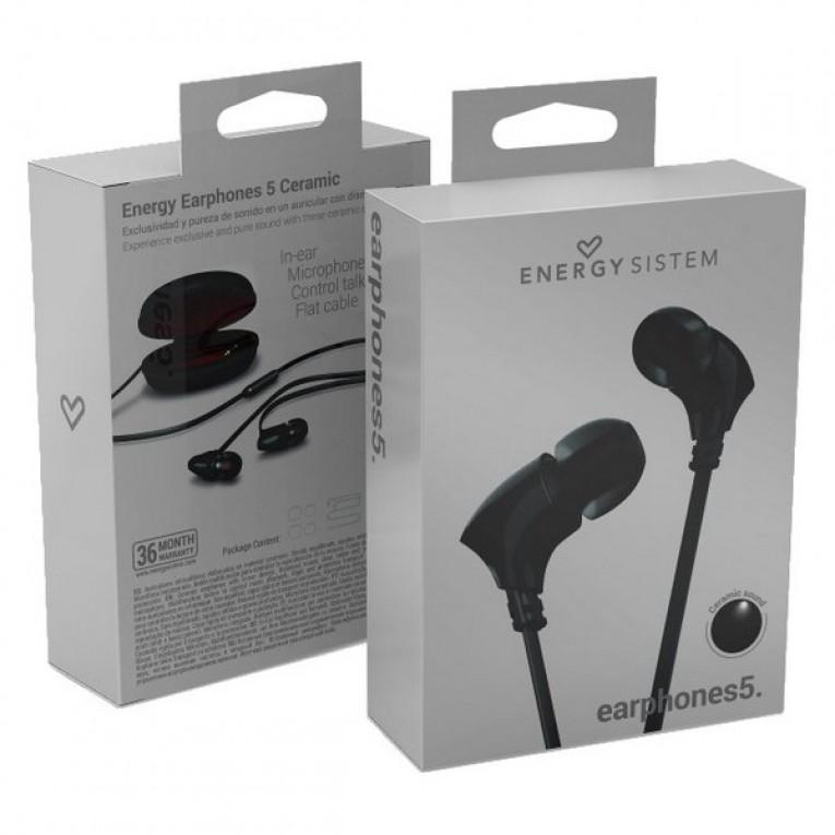 Auriculares de botão Energy Sistem 444762 Preto