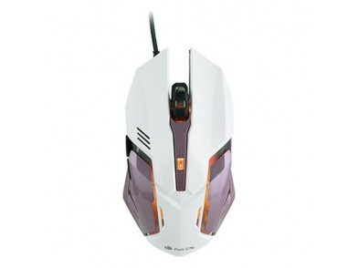 Rato Gaming com LED NGS GMX-100 2400 dpi LED Branco Cor de rosa
