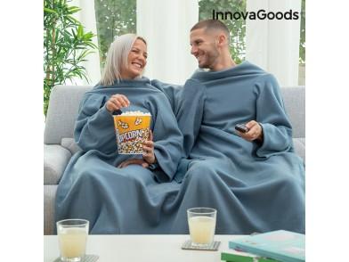 Cobertor com Mangas Duplo com Bolso Central Doublanket InnovaGoods
