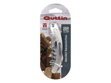 Saca-rolhas com corta selos e abre garrafas Quttin (11 x 2,2 cm)