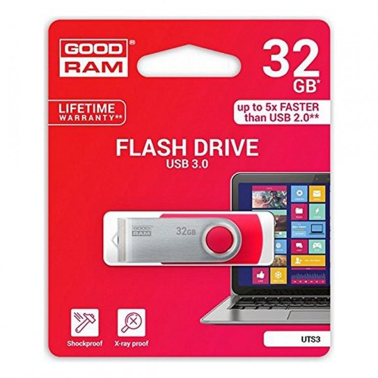 Pendrive GoodRam UTS3 USB 3.1 Preto