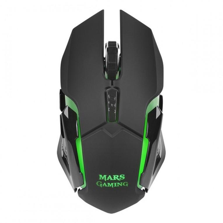 Rato Gaming com LED Mars Gaming MMW 3200 dpi Preto