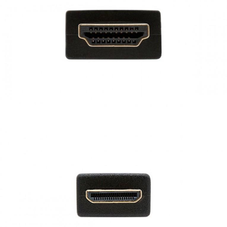 Cabo HDMI para Mini HDMI NANOCABLE 10.15.0902 1,8 m Preto
