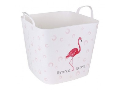 Cesto da Roupa Flamingo Forever 25 L (38 X 33 x 35 cm)