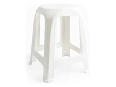 Banqueta Aroa Plástico Branco (26 X 26 x 47 cm)