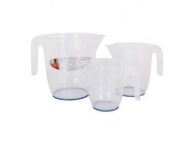 Jarra Medidora Plástico 0,5 l - 1 l - 2 l (3 Uds)