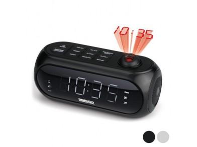 Rádio-despertador com Projetor LCD Daewoo DCP-490 180º FM