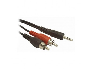 Cabo áudio jack para 2 RCA GEMBIRD CCA-458 Preto (1,5 m)