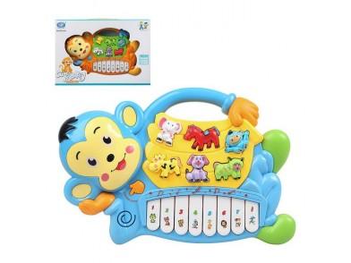 Piano Interativo para Bebé Cute Monkey 114324 Som