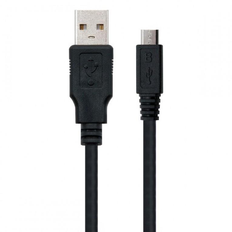 Cabo USB 2.0 A para Micro USB B NANOCABLE 10.01.0501 (1,8 m)