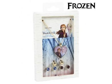 Conjunto Colar e Brincos Frozen 71365 Dourado