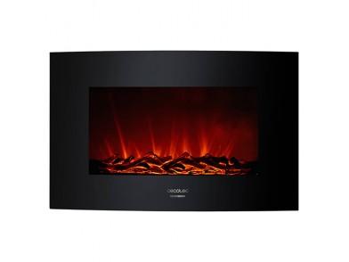 Chaminé Elétrica Decorativa de Parede Cecotec Warm 3500 Curved Flames 2000W