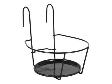 Suporte de Varanda para Pendurar Vasos Metal Preto (ø 19 cm)