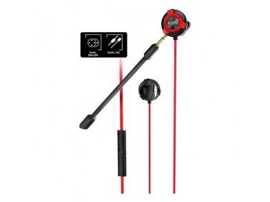 Auriculares com microfone para Vídeojogos Energy Sistem ESG-1 3.5 mm Preto Vermelho