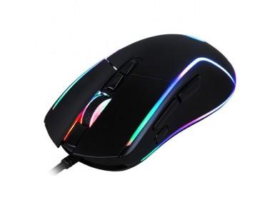 Rato Gaming com LED CoolBox DG-MOU019-RGB RGB 6400 dpi 30 ips Preto