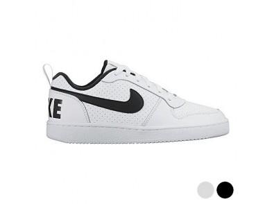 Sapatilhas de Desporto Infantis Nike COURT BOROUGH LOW (GS) Branco Preto (Tamanho usa)