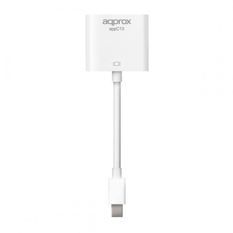 Adaptador Mini DisplayPort para VGA approx! APPC13V2 162 MHz HDMI 1.3b 5,4 Gbps 18 cm