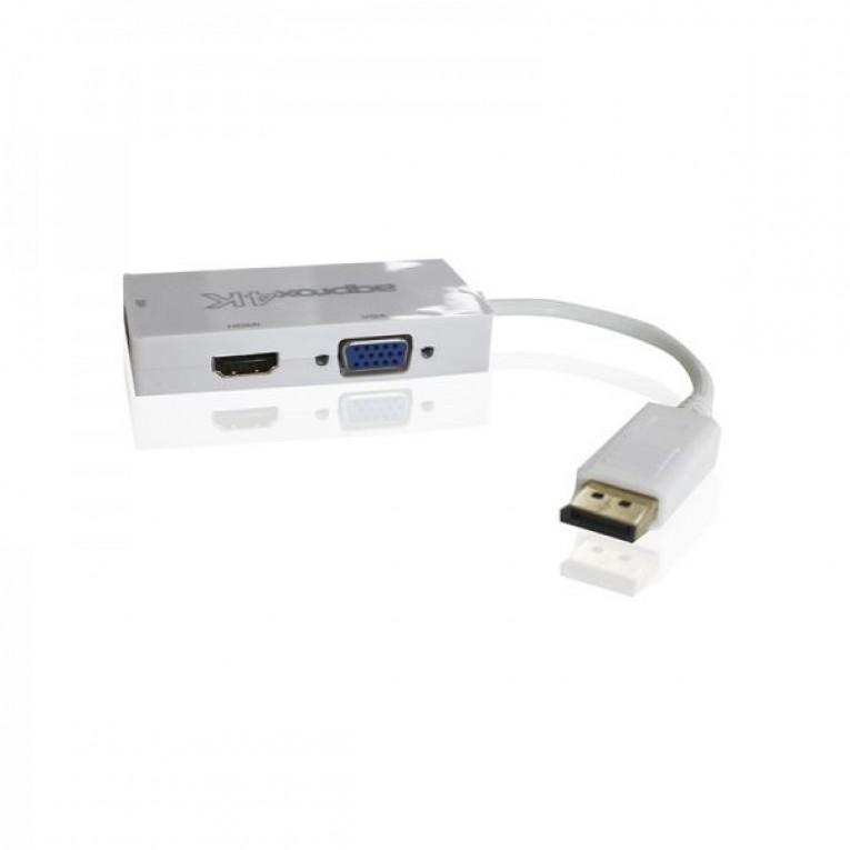 Adaptador DisplayPort para HDMI approx! AISCCI0302 APPC37 DVI VGA Branco