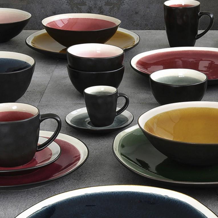 Chávena com Prato Grés (8 X 6 x 6 cm)