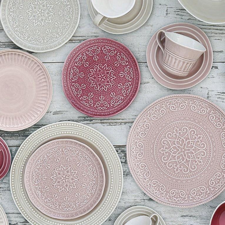 Plat bord Porcelana (26,5 x 26,5 x 2 cm)