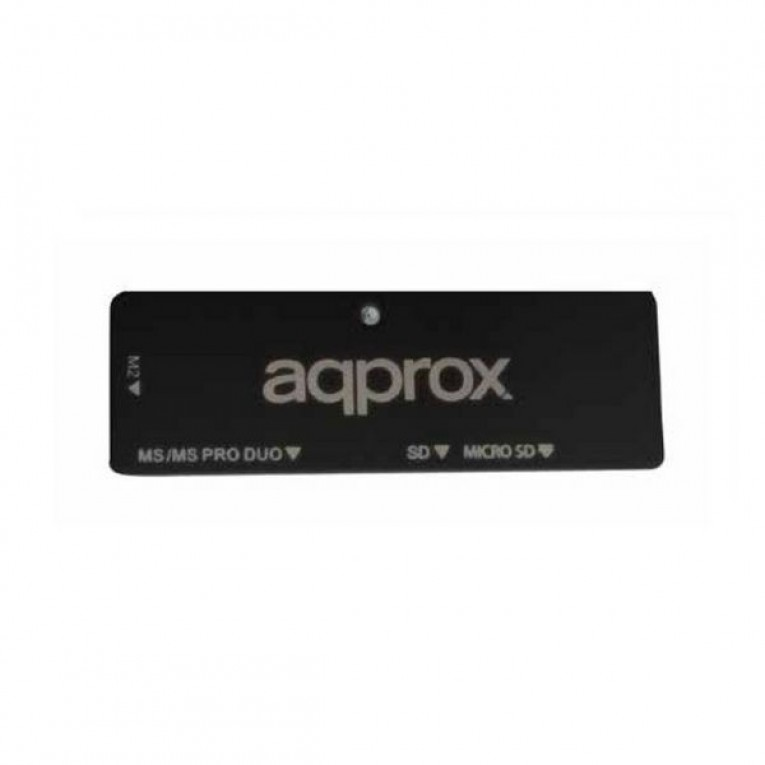 Leitor de cartões externo approx! APPCR01B USB 2.0 Preto