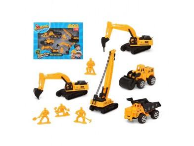 Veículos de Construção Amarelo 119398 (9 Pcs)