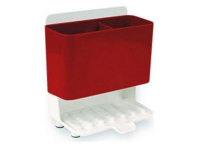 Organizador Multiusos Confortime Branco Vermelho (18,3 x 11,9 x 19,9 cm)