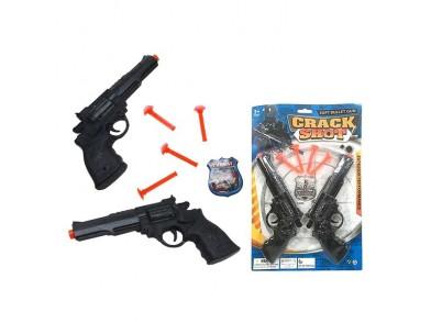 Conjunto 2 Pistolas Lança-dardos Crack Shot