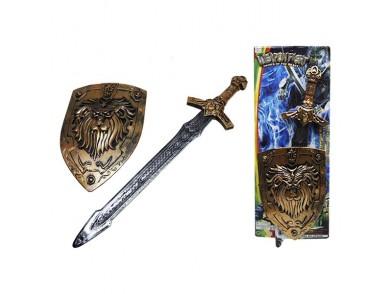 Conjunto de Espadas com Escudo (2 pcs)