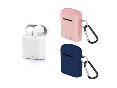 Auriculares Bluetooth com microfone Contact Twins Mini 400 mAh Branco