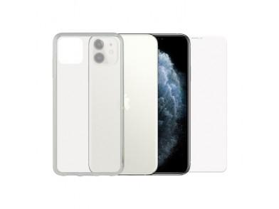 Protetor de vidro temperado para o telemóvel + Estojo para Telemóvel Iphone 11 Pro Contact