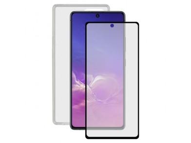 Protetor de vidro temperado para o telemóvel + Estojo para Telemóvel Samsung Galaxy S20 Lite Contact