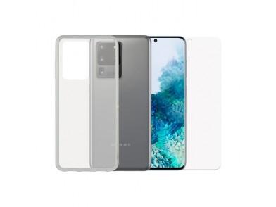 Protetor de vidro temperado para o telemóvel + Estojo para Telemóvel Samsung Galaxy S20 Ultra Contac