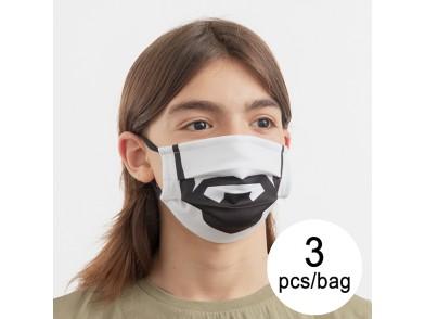 Máscara Higiénica em Tecido Reutilizável Beard Luanvi Tamanho M (Pack de 3)