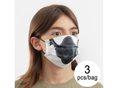Máscara Higiénica em Tecido Reutilizável Gas Luanvi Tamanho M (Pack de 3)