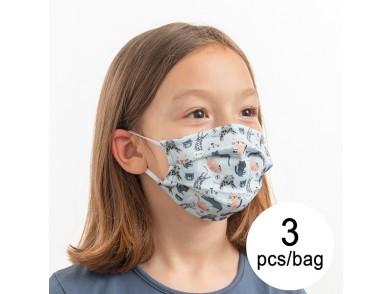 Máscara Higiénica em Tecido Reutilizável Cats Luanvi Infantil (Pack de 3)