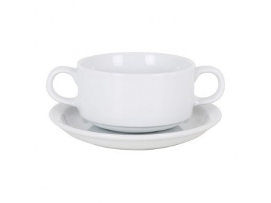 Conjunto de chávenas de chá Cambridge Ii 300 ml Branco