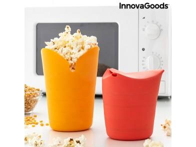 Utensílio para fazer pipocas em silicone dobrável Popbox InnovaGoods (Pack de 2)