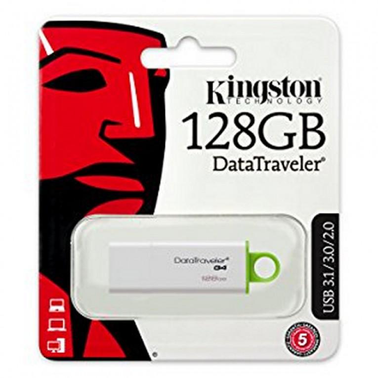 Pendrive Kingston DTIG4 128 GB USB 3.0 Branco Verde