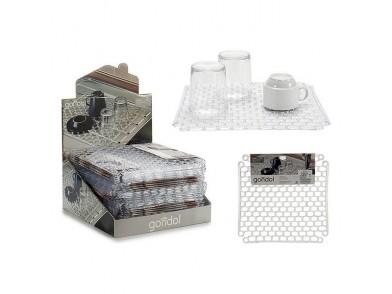 Antideslizante Transparente Plástico Transparente (32 x 1 x 32 cm)
