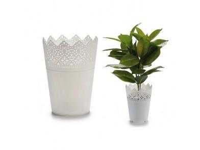 Vaso Ibergarden Branco Plástico (14,3 x 18,2 x 14,3 cm)