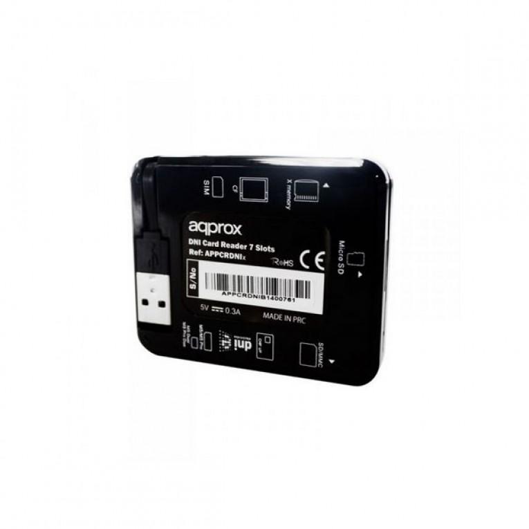 Leitor para DNI eletrónico approx! APPCRDNIB USB 2.0 Preto