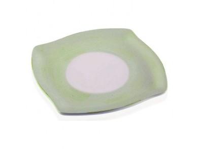 Prato Cerâmica Branco/Verde