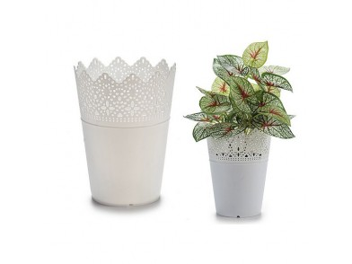 Vaso Branco Plástico