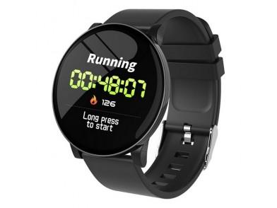 "Smartwatch KSIX Round HR 1,3"" OLED 170 mAh Bluetooth 4.0 Preto"