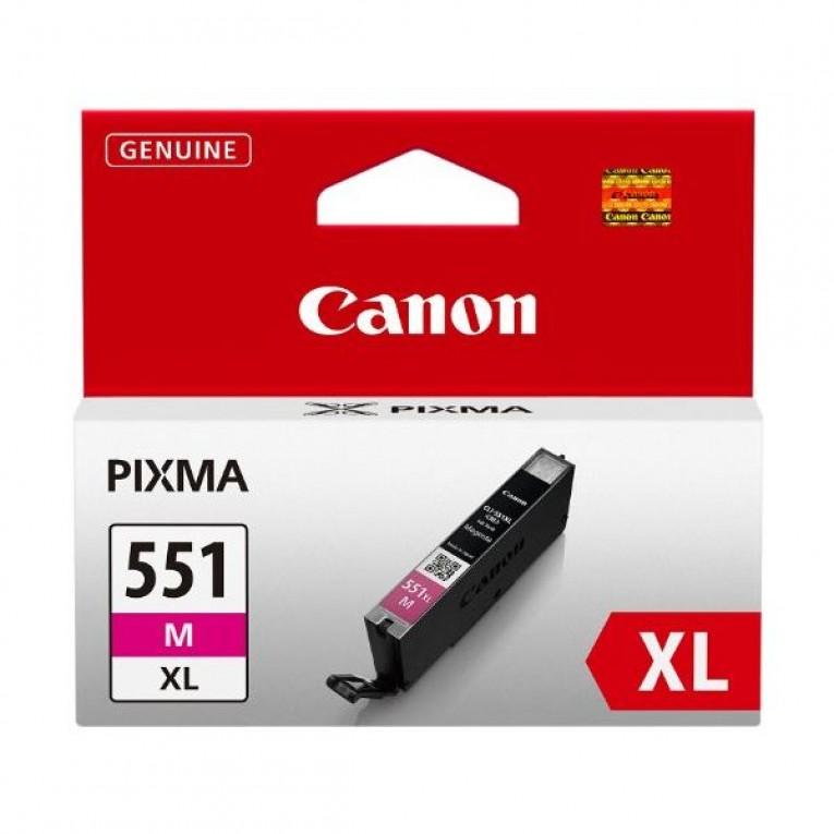 Tinteiro de Tinta Original Canon CLI-551M XL IP7250/MG5450 Magenta