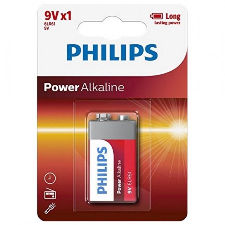 Pilha Alcalina Philips 6LR61 9V